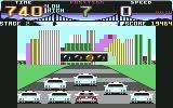 Cisco Heat: All American Police Car Race Commodore 64 The race is about to start.