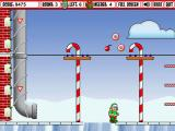 Adventure Elf Windows Pipes allow you to descend quickly while frozen surfaces slow you down.