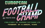 European Football Champ Commodore 64 Title screen