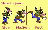 Goofy's Railway Express Commodore 64 Select game speed