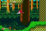 Sonic & Knuckles Collection Windows Knuckles glides acroos the landscape