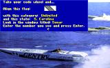 Heat Wave: Offshore Superboat Racing DOS Check of code wheel protection (VGA)