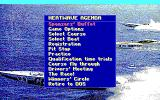 Heat Wave: Offshore Superboat Racing DOS Main menu (EGA/Tandy)