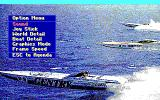 Heat Wave: Offshore Superboat Racing DOS Game option menu (EGA/Tandy)