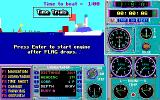 Heat Wave: Offshore Superboat Racing DOS Time trials (EGA/Tandy)