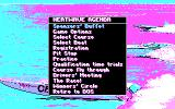 Heat Wave: Offshore Superboat Racing DOS Main menu (CGA)
