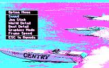 Heat Wave: Offshore Superboat Racing DOS Game option menu (CGA)