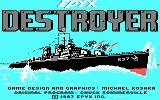 Destroyer PC Booter Title screen