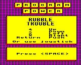 Rubble Trouble BBC Micro Title screen