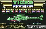 Tiger Mission Commodore 64 Title and credits