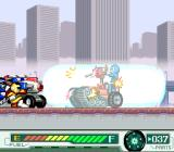 Gekisō Sentai Carranger: Zenkai! Racer Senshi SNES One of the power-ups is that bazooka