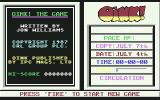 Oink! Commodore 64 Menu screen