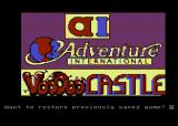 Scott Adams' Graphic Adventure #4: Voodoo Castle Atari 8-bit Title screen