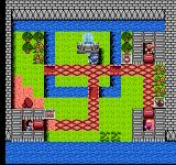 Fuzzical Fighter NES The overhead view of a town