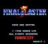 Final Blaster TurboGrafx-16 Title screen
