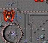 Final Blaster TurboGrafx-16 You meet enemies much larges than you very early in the game.
