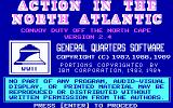 Action in The North Atlantic  DOS Title screen