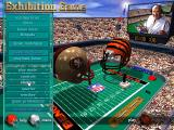 Madden NFL 97 DOS Exhibition game setup.