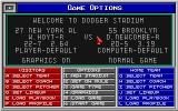 MicroLeague Baseball IV DOS Friendly game menu