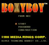 Boxyboy TurboGrafx-16 Title screen
