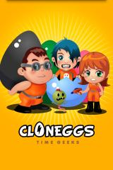 Time Geeks: Cloneggs iPhone Title screen
