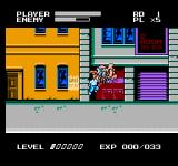 Mighty Final Fight NES Another shot of the Dragon Punch in action