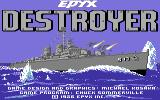 Destroyer Commodore 64 Title screen