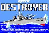 Destroyer Apple II Title screen