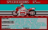 The Cycles: International Grand Prix Racing DOS Bike selection (CGA)