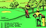 Jack Nicklaus' Greatest 18 Holes of Major Championship Golf DOS Select Game Menu (CGA)