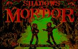 The Shadows of Mordor DOS The title screen - The main heroes Frodo and Sam