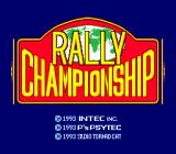 Championship Rally TurboGrafx CD Title screen