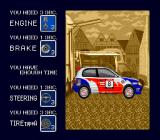 Championship Rally TurboGrafx CD Customizing the car