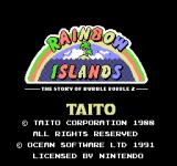 Rainbow Islands NES Title screen