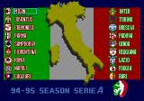Formation Soccer 95 della Serie A TurboGrafx CD Italian teams