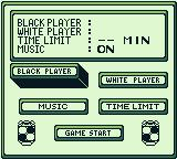 Othello Game Boy Main menu
