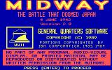 Midway: The Battle that Doomed Japan DOS Title screen