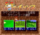 Go! Go! Birdie Chance TurboGrafx CD Course selection