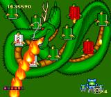God Panic: Shijō Saikyō Gundan TurboGrafx CD Defeat this dragon by upsetting those mahjong tiles...