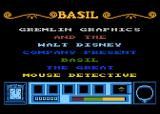 Basil the Great Mouse Detective Atari 8-bit Title screen