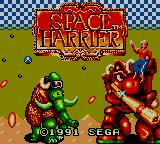 Space Harrier Game Gear Title Screen