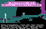 Below the Root PC Booter Game demo and opening credits (CGA with RGB monitor)