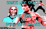 Bruce Lee Lives DOS Title Screen (CGA)