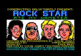 Rock Star Ate My Hamster Amstrad CPC Title screen and credits