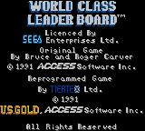 World Class Leader Board Game Gear Title screen