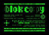 Blok Copy Commodore PET/CBM Title screen