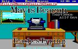 Mavis Beacon Teaches Typing! DOS Title Screen (EGA / Mouse supported version)