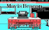 Mavis Beacon Teaches Typing! DOS Title Screen (CGA / Mouse supported version)
