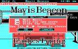 Mavis Beacon Teaches Typing! DOS Main Menu (CGA / Mouse supported version)