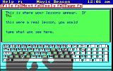 Mavis Beacon Teaches Typing! DOS Mavis describes the gameplay... (EGA / Mouse supported version)